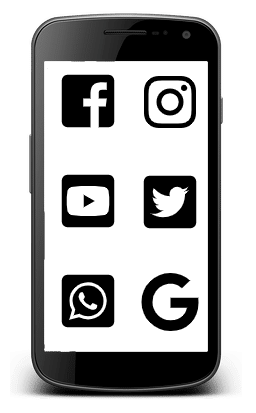 Smart Phone With Social Icons