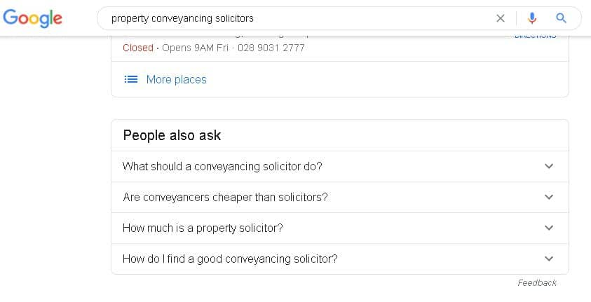 a search for property solicitors