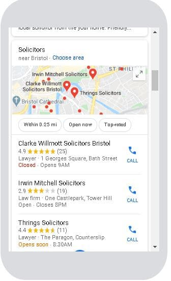 Google Solicitors in Bristol Mobile